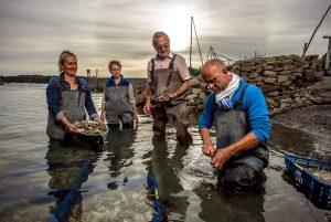 Classes de mer huîtres du bassin d'Arcachon